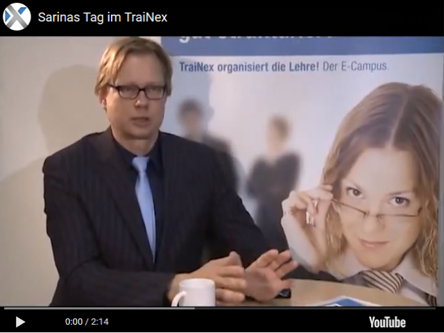 Sarinas Tag im E-Campus TraiNex
