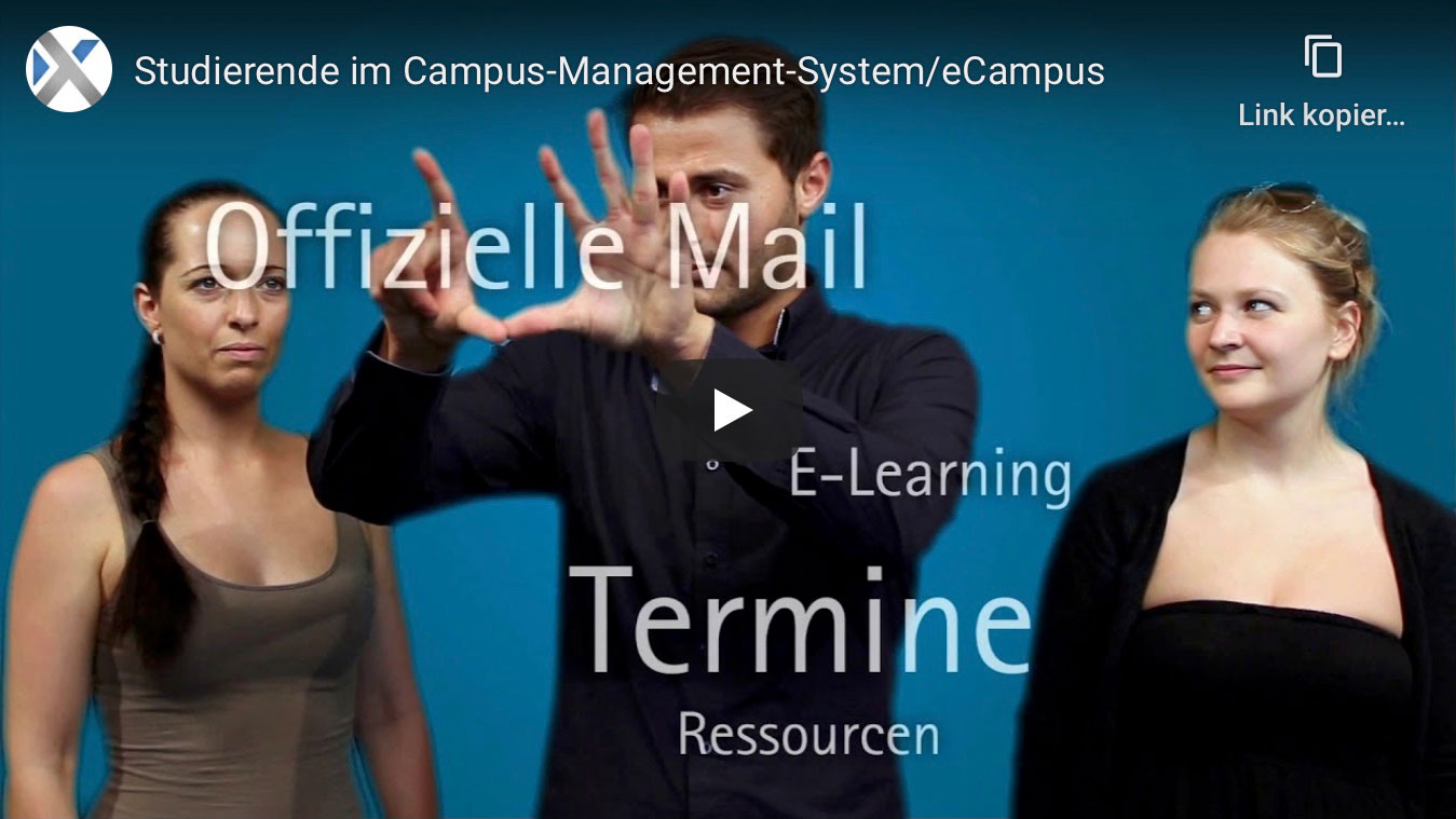 Studierende im Campus-Management-System / eCampus